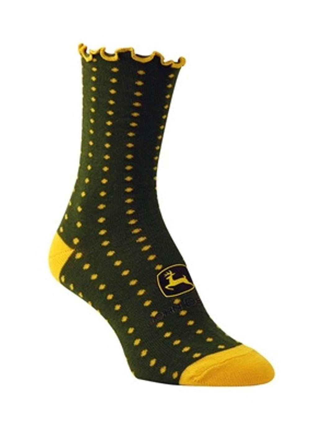 John Deere Ladies Polka Dot Socks Green - LP34476