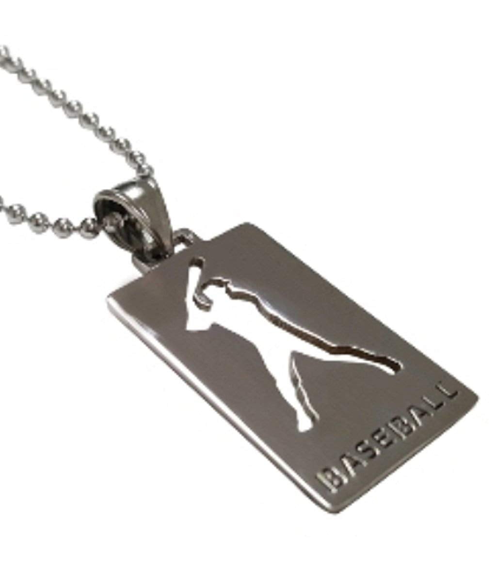 Stainless Steel Sports Medal Necklace - Chain Included