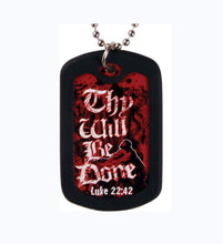 Thy Will Dog Tag Necklace