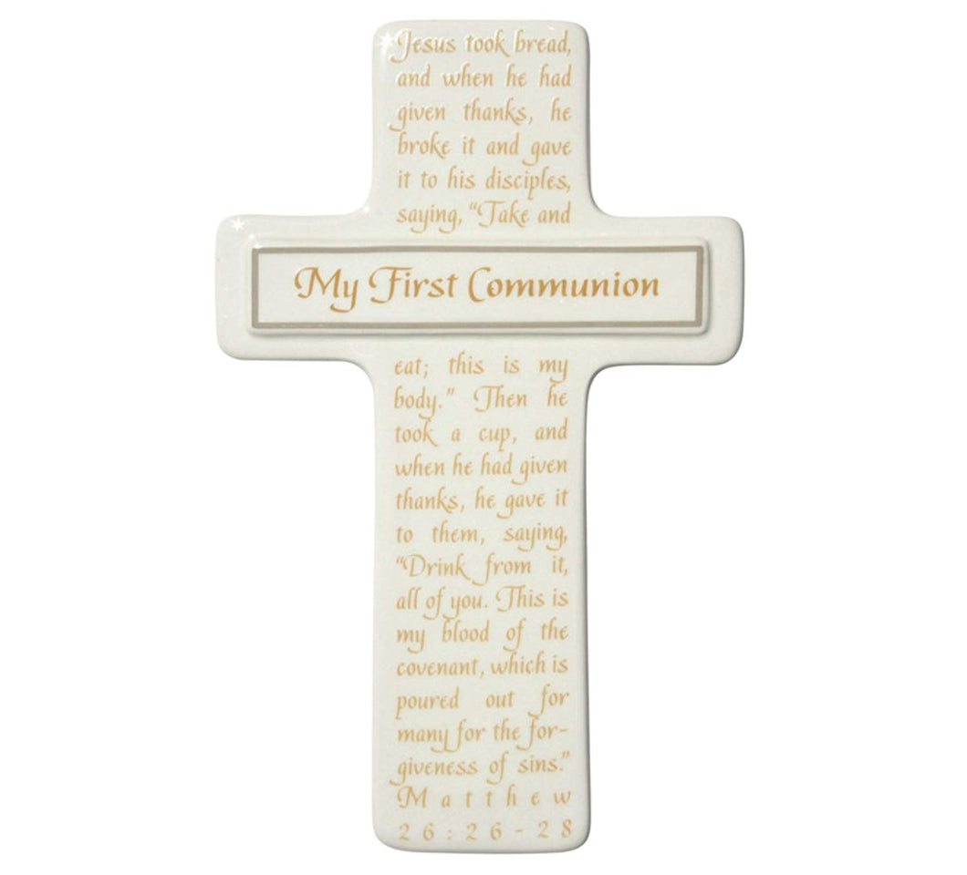 Enesco This is the Day by Gregg Gift Communion Cross with Verse Walldecor