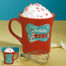 Abbey Press 129991 Mug My Cup Runneth Over-Happy Birthday Jesus, Chocolate Peppermint Cake Mug