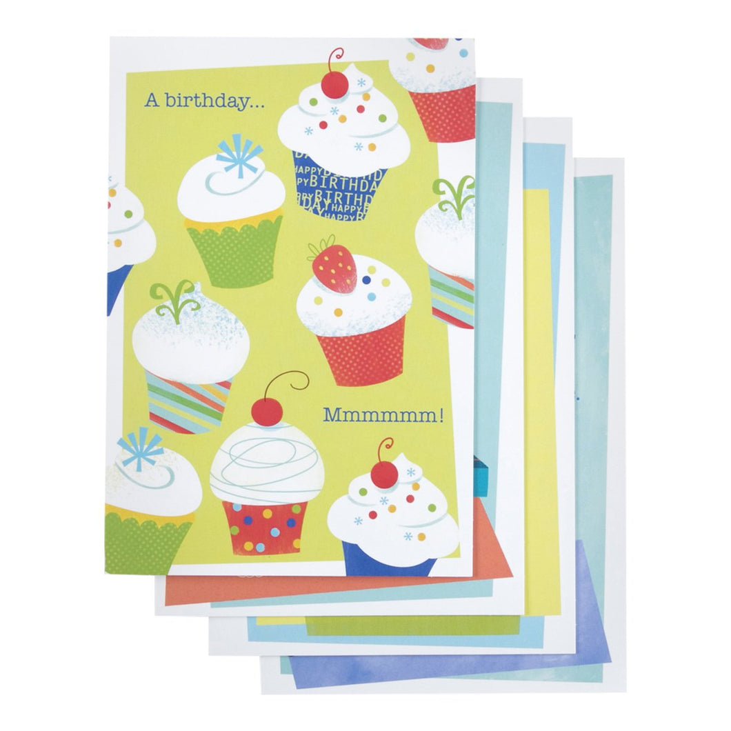 DaySpring Birthday Greeting Cards wEmbossed Envelopes - Sweet Treats, 12 Count