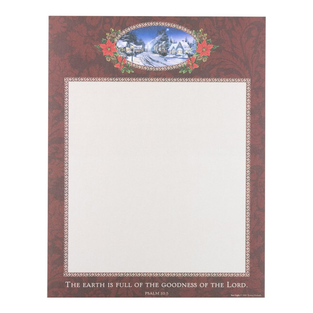 DaySpring Christmas Star Light Thomas Kinkade Mulitpurpose Printer Paper, 52 Sheets 8.5