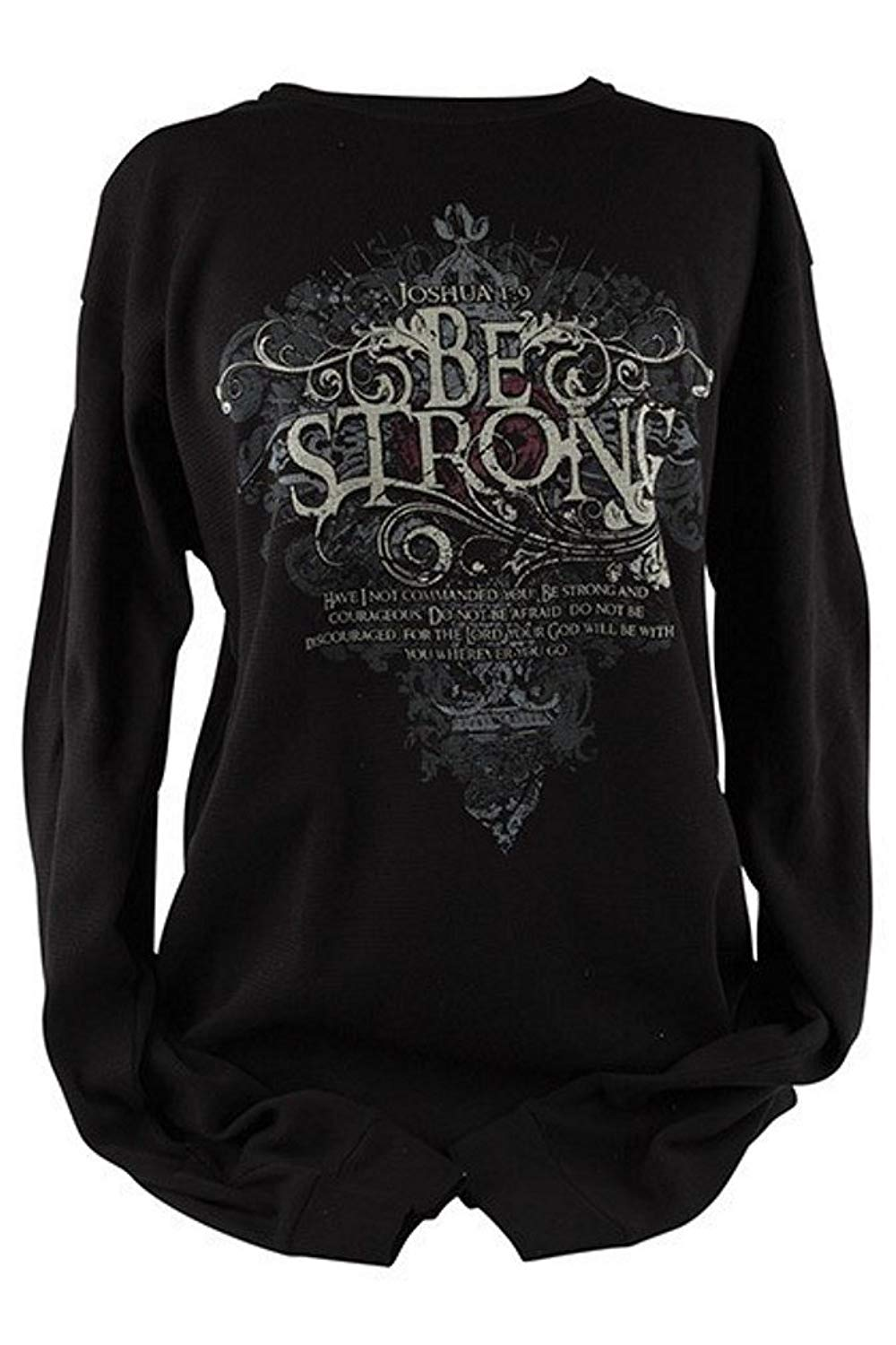 Kerusso ChristianBe Strong Long Sleeve Thermal, T-Shirt - Black