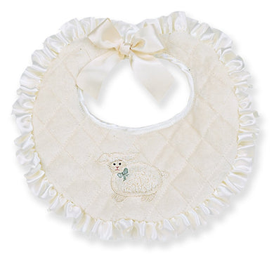 Bearington Baby Baa Baa Lamb Bib (Cream) 10