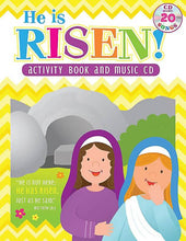 He Is Risen! Children Activity Book & Music CD with Lyrics