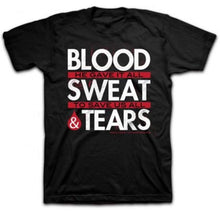 "Christian ""Blood Sweat and Tears - He Gave It All Jesus "" T-Shirt - Black"