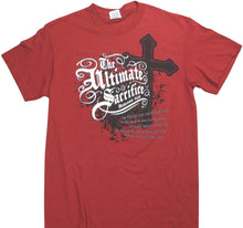"Christian ""The Ultimate Sacrifice"" Cross and Hebrews 9:28 T-Shirt - Red"