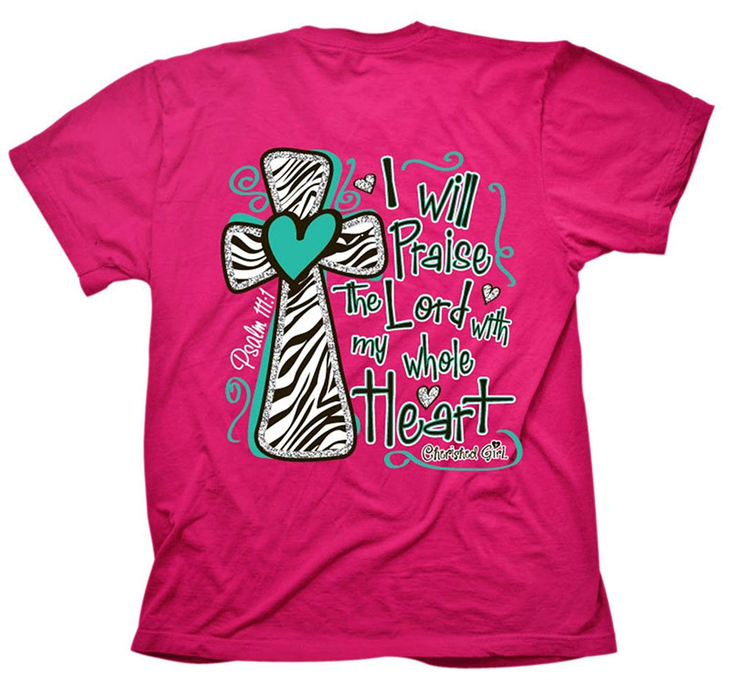 Cherished Girl I Will Praise the Lord Christian Adult T-Shirt