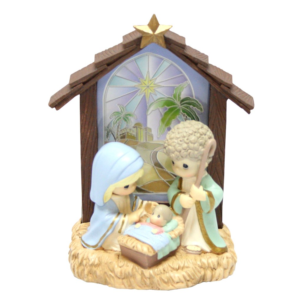 Precious Moments 105920 Figurine Nativity Tabletop Window Led Lights 5.25
