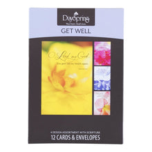 DaySpring Get Well Boxed Greeting Cards w Embossed Envelopes - His Word
