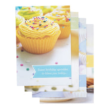 DaySpring Birthday Boxed Greeting Cards w Embossed Envelopes - Cupcakes, 12 Count