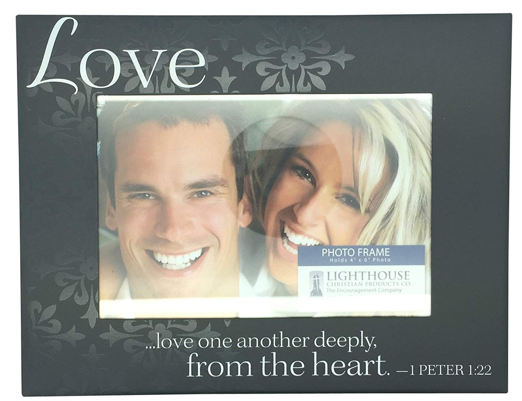 Christian Pattern Picture Frame with Inspirational - Love
