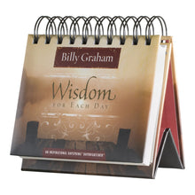 DaySpring Billy Graham's Wisdom for Each Day, DayBrightener Perpetual Flip Calendar, 366 Days of Inspiration (75669)