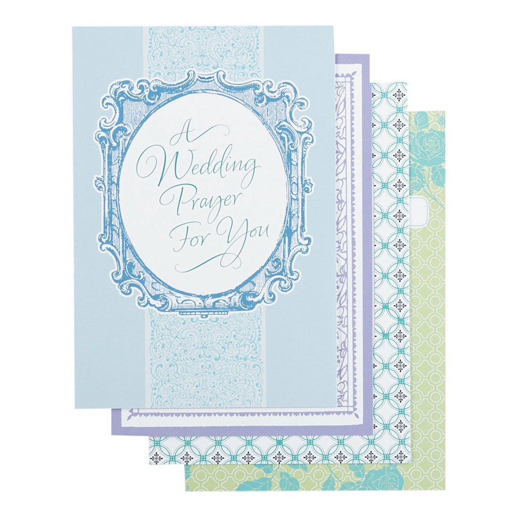 DaySpring Wedding Boxed Greeting Cards w Embossed Envelopes - Blessings, 12 Count