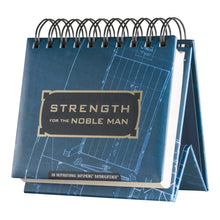 DaySpring Strength for the Noble Man, DayBrightener Perpetual Flip Calendar, 366 Days of Inspiration (34831)