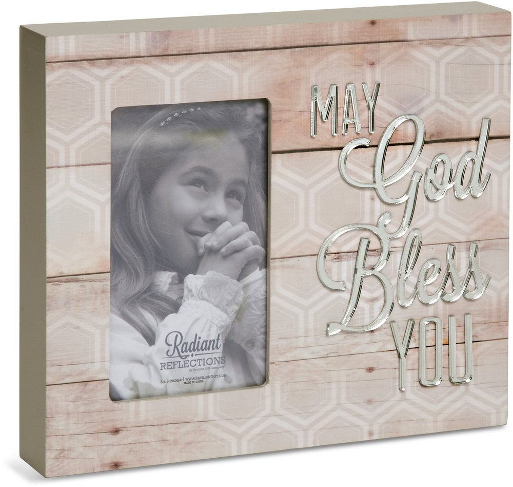 Pavilion Gift Company 31041 God Bless You Picture Frame, 7-1/2 by 6-3/4-Inch