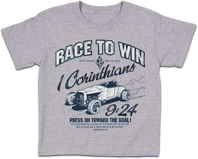 Race to win 1 Corinthians 9:24 - Christian shirt (YOUTH)