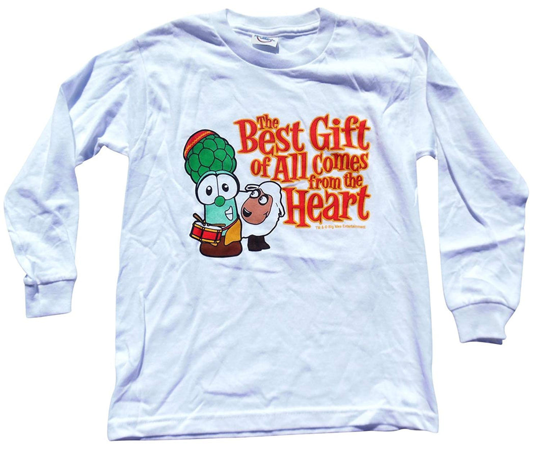 Christmas Veggie tales The Best Gift of All Comes from the Heart Youth T-Shirt