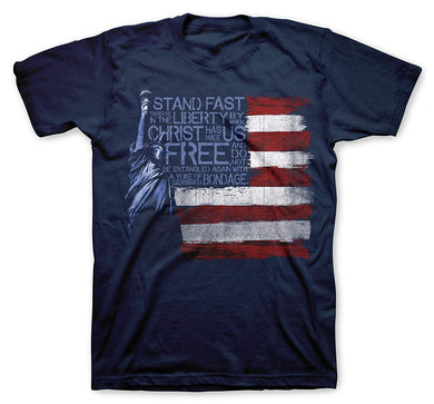 Adult Tee - Liberty Flag