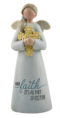 Blossom Bucket 173-11217 'Have Faith' Angel W/Yellow Flowers Home Decor