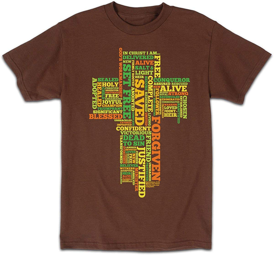 Kerusso 2012 Christian Inspirational Adult T-shirt 'In Christ I Am' (Small)