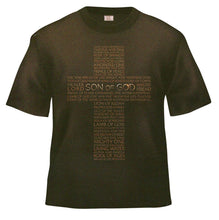 Christian Son of God Brown T-Shirt with Cross