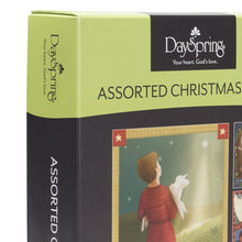 DaySpring Christmas Boxed Greeting Cards w Embossed Envelopes - Folk Nativity, 12 Count (37330)
