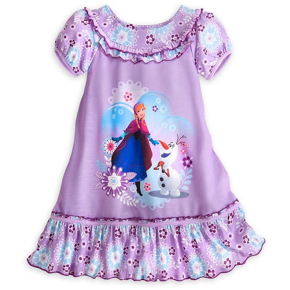 Disney Frozen Anna and Olaf Nightshirt for Girls Size 5/6