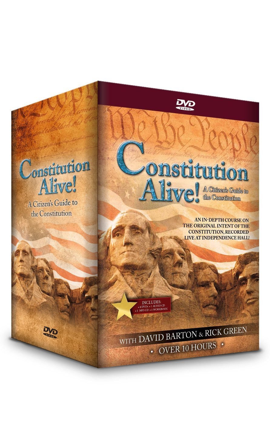 Constitution Alive - David Barton - A Citizen's Guide to the Constitution - one-of-a-kind, 4-DVD set