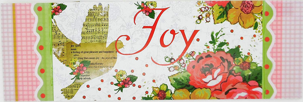 Christian Joy Plaque - Wooden Wall Plaque with