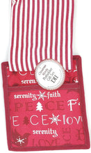 Christmas words - Serenity Peace Love Hope Faith Holiday Potholder andTowel Gift Set
