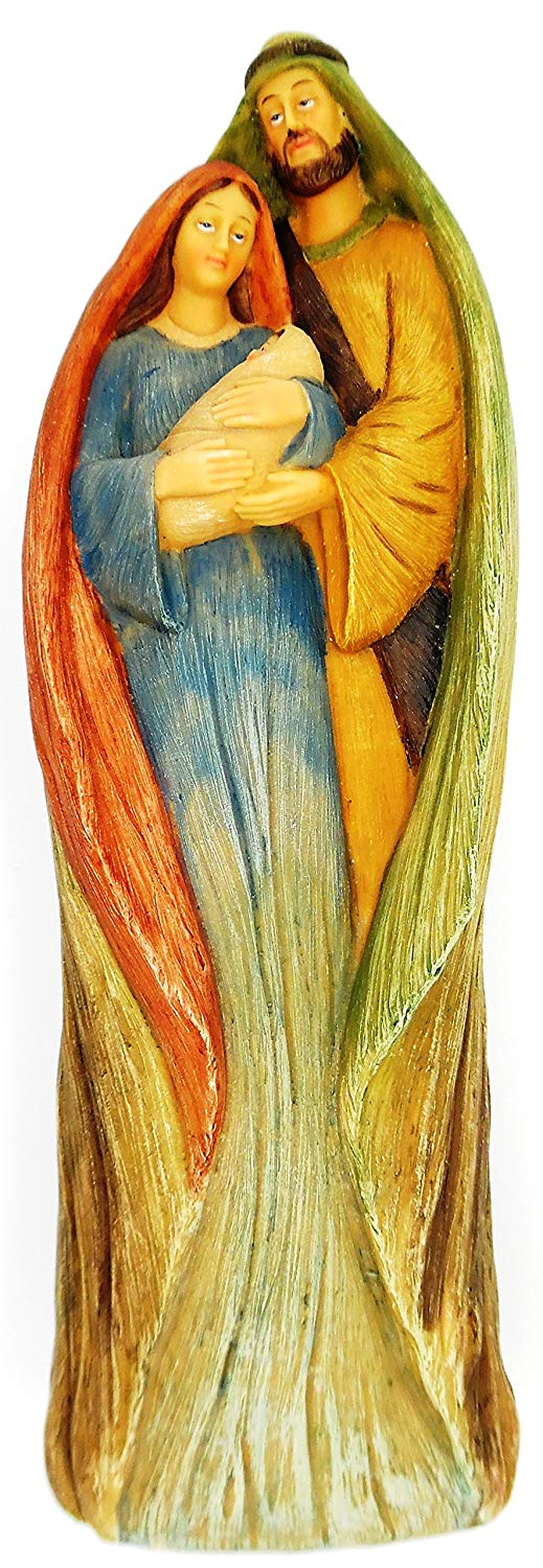Christian Holy Family - Mary Joseph and Baby Nativity Christmas 11.5 inch X 3.75 inch Figurine