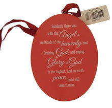 "Christmas ""Peace on Earth"" Dove and Angel Painted Ornament 2-sided"