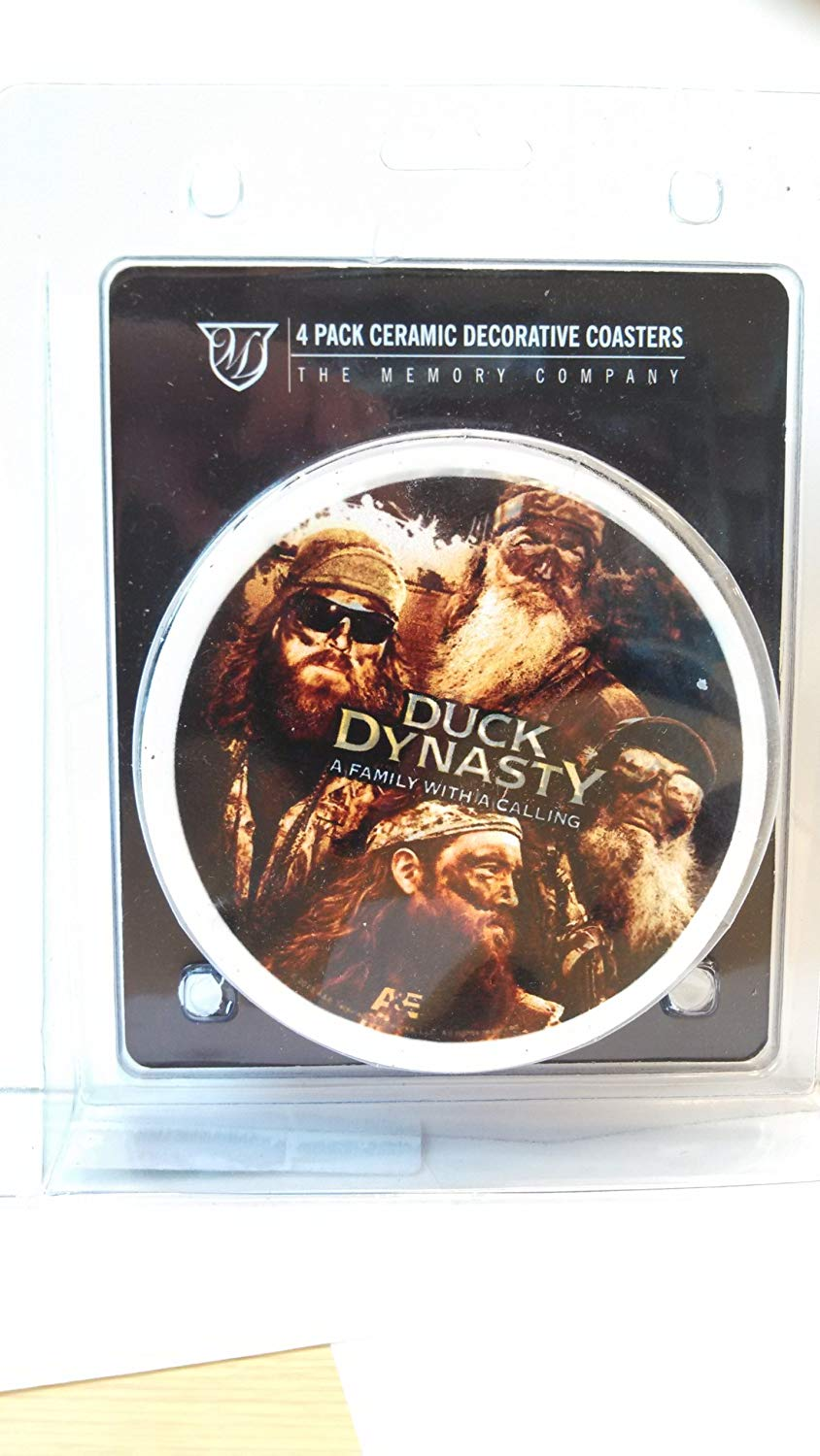 Duck Dynasty 4-Pack Family With A Calling Ceramic Home Coasters