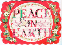 """ Peace On Earth "" - 12 Embellished Cards & Envelopes"