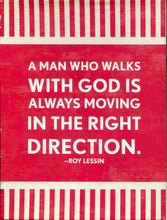Boxed Notecard Glory, A man who walks with God is always moving in the right direction - Roy Lessin