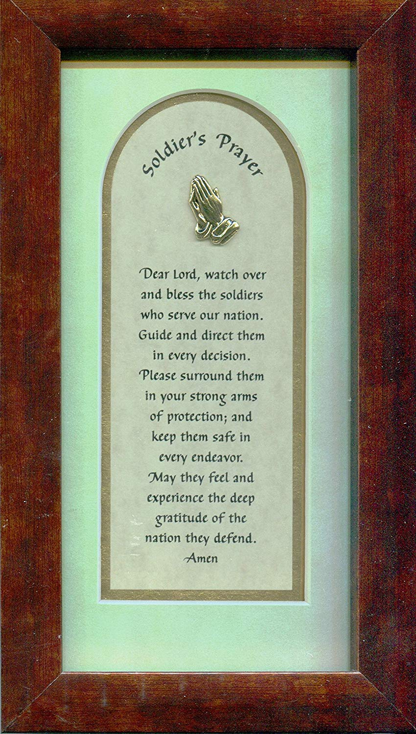 Soldier's Prayer Framed Tabletop Christian Verse