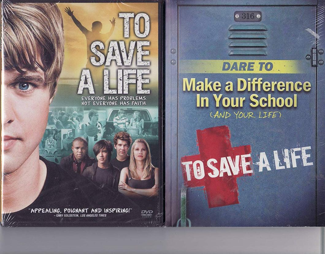 To Save A Life LIMITED EDITION DVD SET Includes DVD and 96 Page Inspirational Book