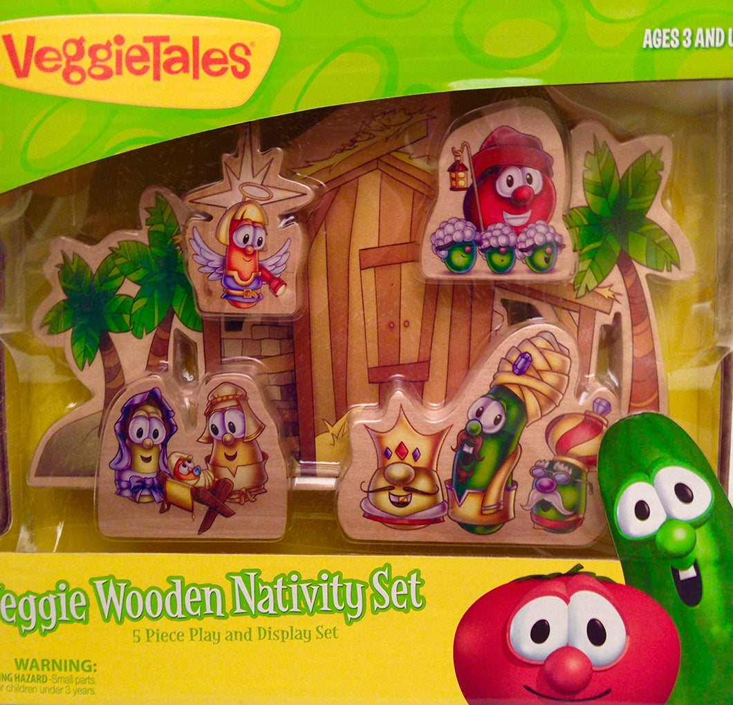 Veggie Tales Wooden Nativity Set (00516)