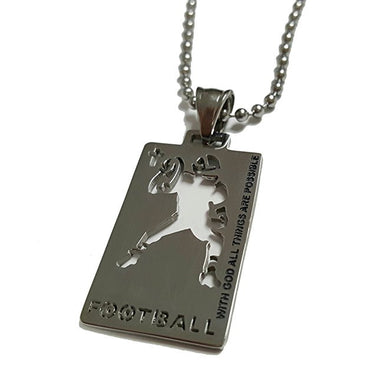 Christian Stainless Steel Sport Medal Necklace - Chain Included