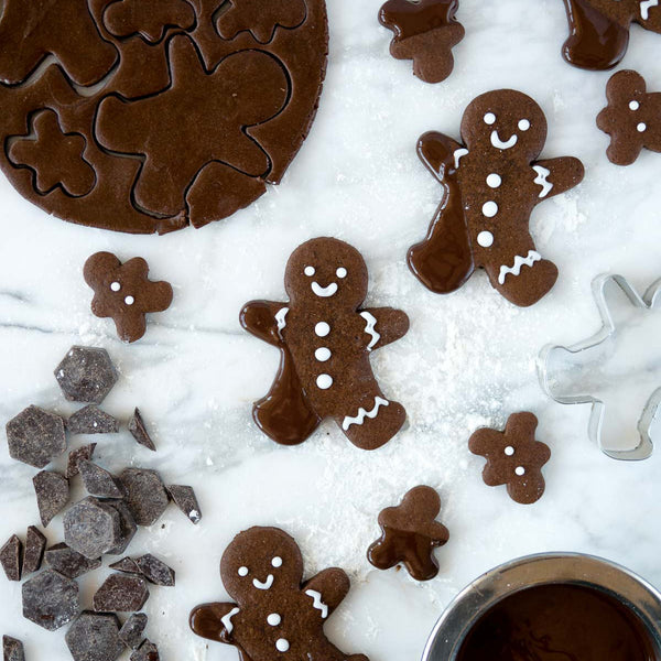 Anita Chu's Chocolate Dipped Chocolate Gingerbread Cookies