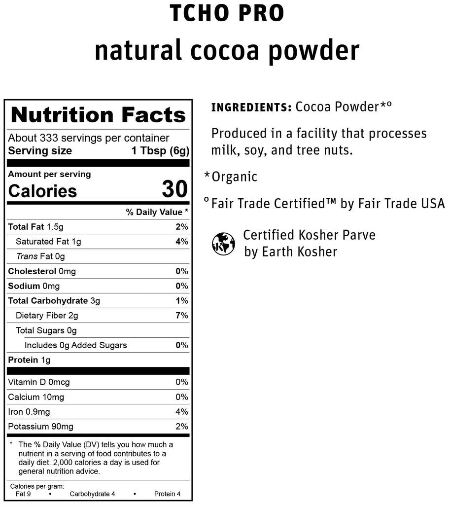 TCH Pro Natural Cocoa Powder Nutrifact