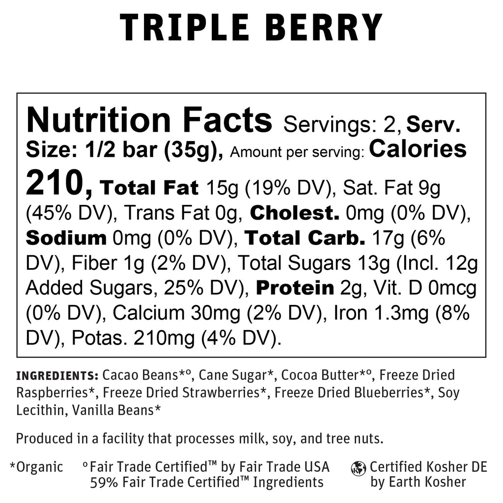 Triple Berry Nutritional Info