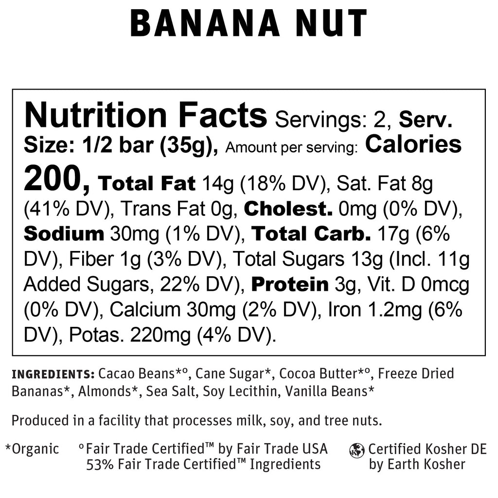 Banana Nut Nutritional Info