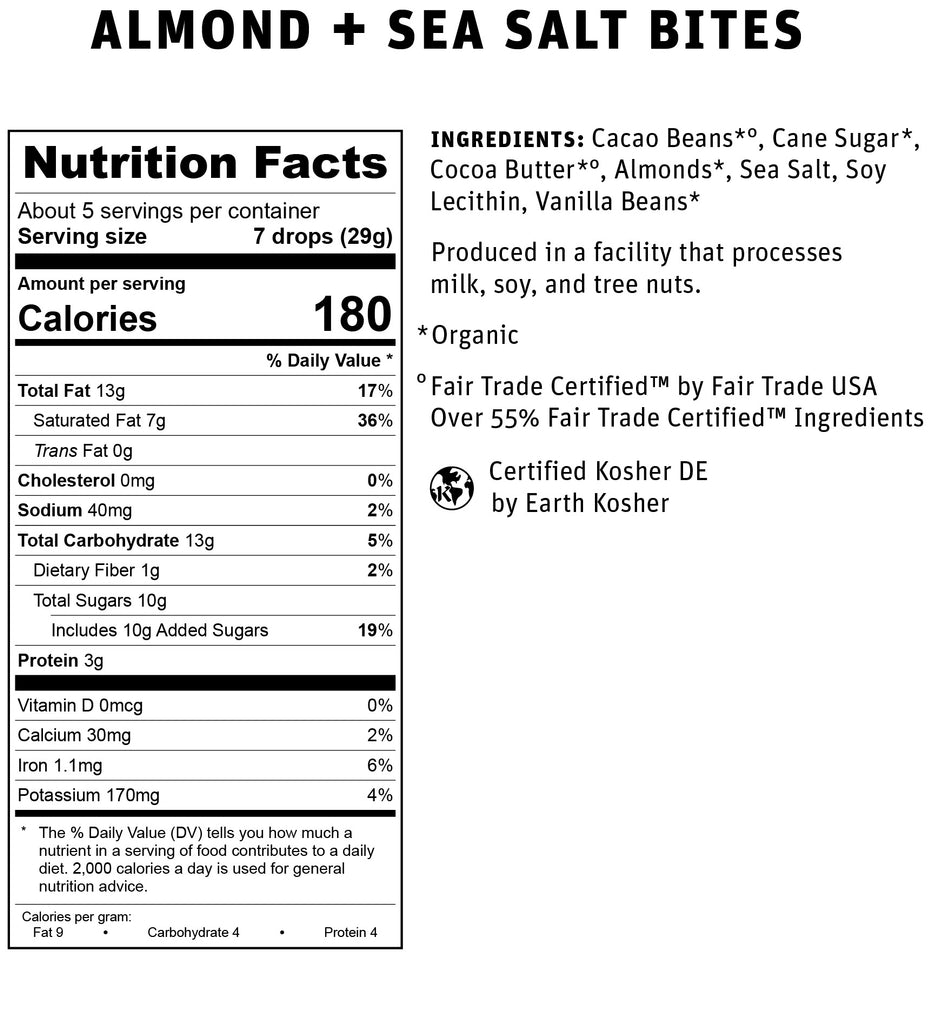 Almond + Sea Salt Nutritional Info