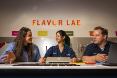 TCHO Bean Team in the Flavor Lab at the TCHO Factory in Berkeley, CA