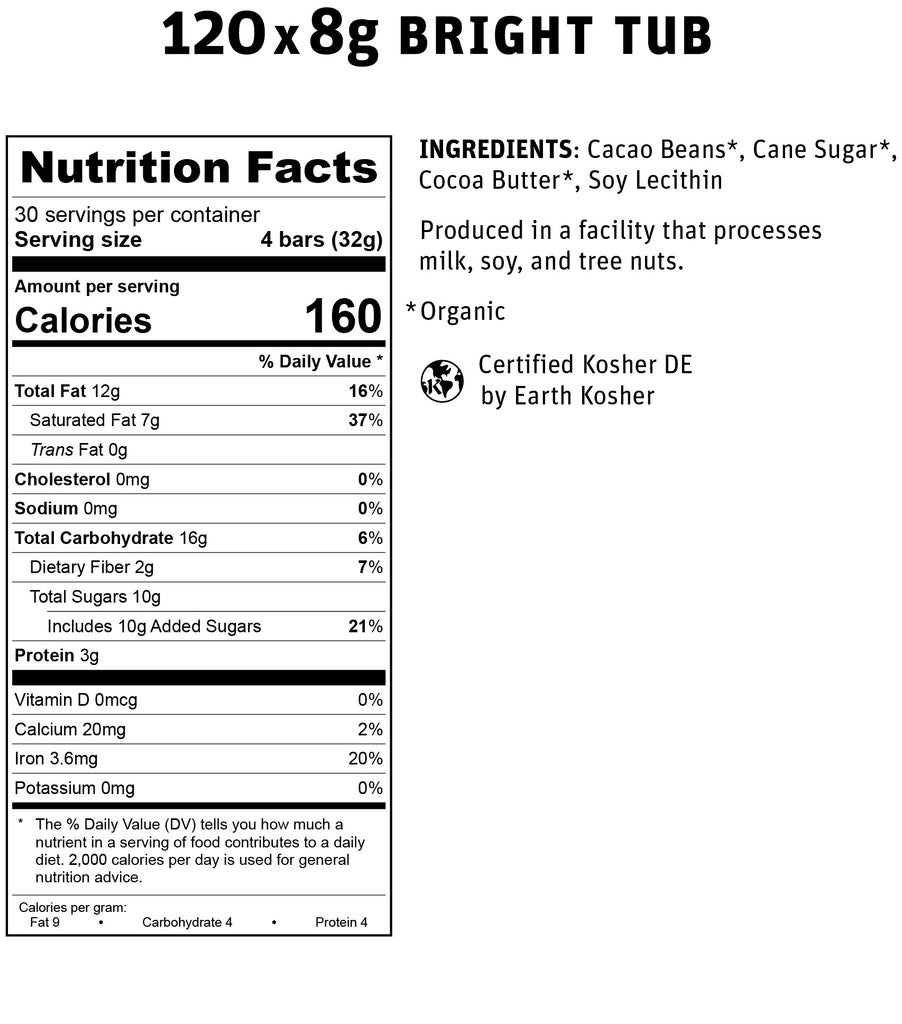 Bright Tub Nutritional Info