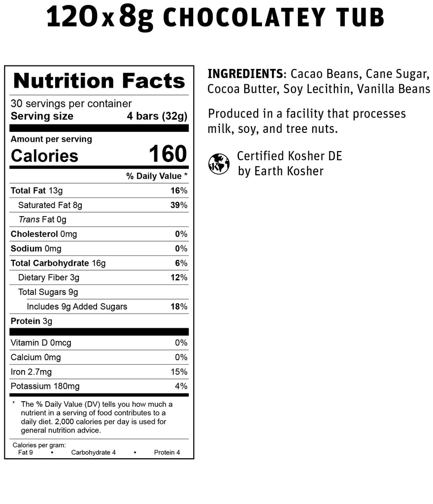 Chocolatey Tub Nutritional Info