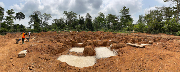 Progress at Cocoa Flavour Lab and Training Centre at CRIG in February 2021